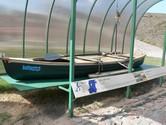 Baltosandia '99 kanoja Jūrų muziejuje KLaipėdoje